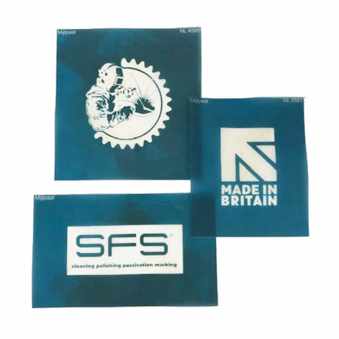 Bespoke marking stencil Stainless Finishing Solutions