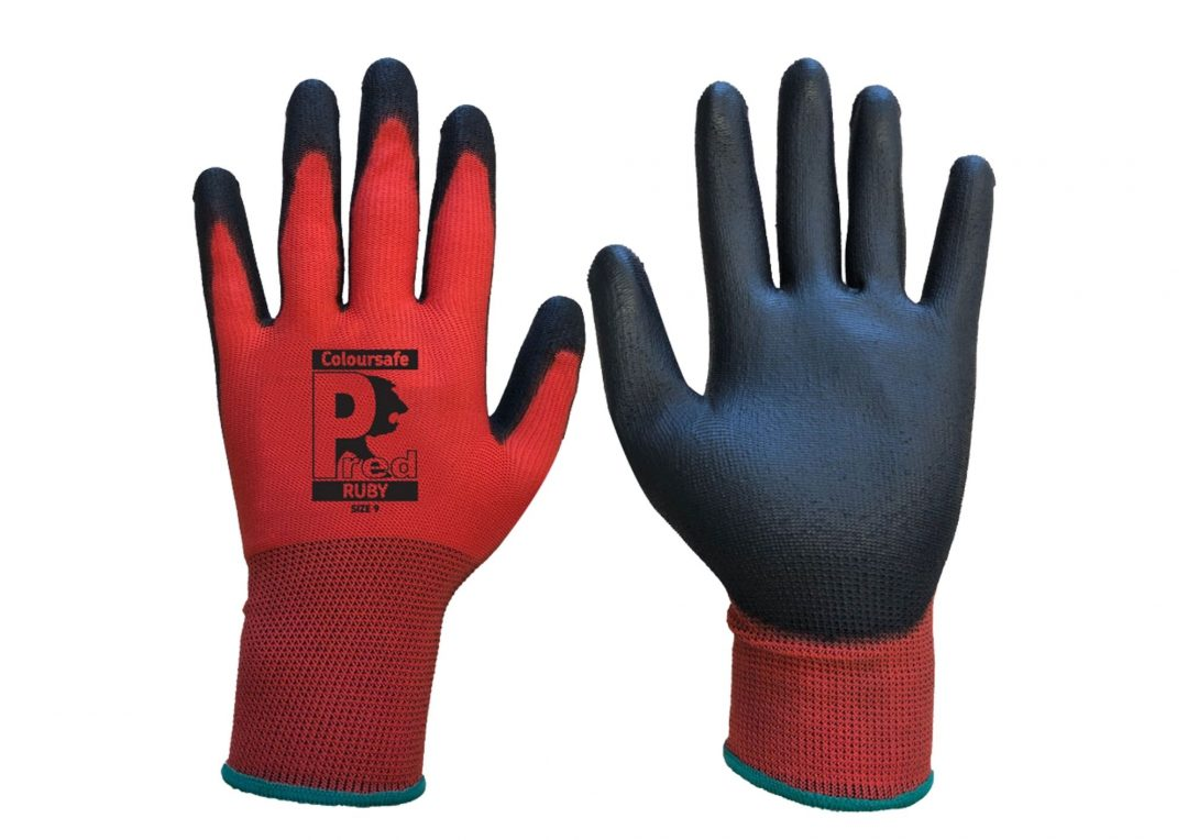 PREDATOR Colour-Safe rigger glove Ruby (Pack of 60) Stainless Finishing Solutions